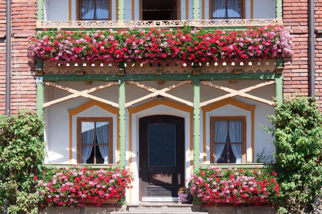 balkon w lato