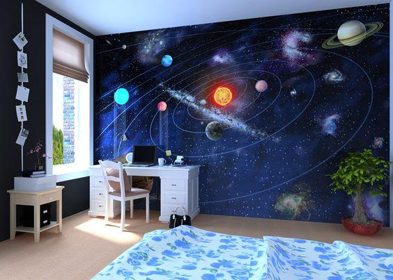 Fototapeta do pokoju dziecka układ słoneczny kosmos